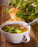 Vegetable broccoli soup Stock Photo