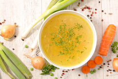 Vegetable broth Stock Images