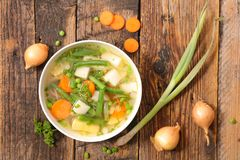 Vegetable broth and spices royalty free stock photo