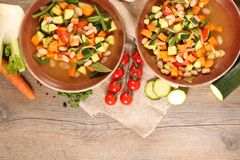 Vegetable and broth stock photos