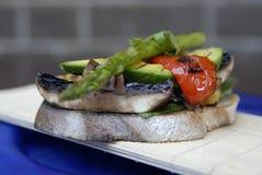Vegetable bruschetta Stock Photos