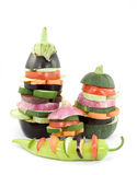 Vegetable burger Royalty Free Stock Images