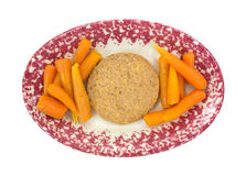 Vegetable burger with carrots Stock Images