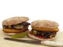 Vegetable burger Stock Photography