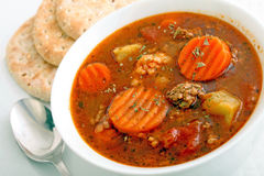 Vegetable burger soup Royalty Free Stock Image