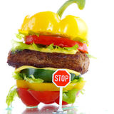 Vegetable burger Stock Photos