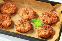 Vegetable burgers on baking parchment paper Stock Images