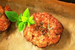 Vegetable burgers Stock Image