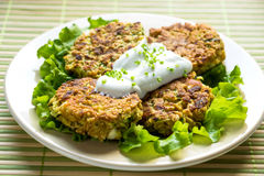 Vegetable burgers Royalty Free Stock Photos