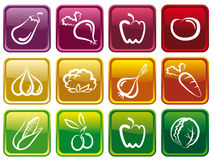 Vegetable buttons Stock Images