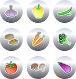 Vegetable buttons stock photography