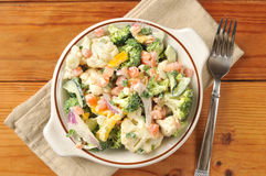 Vegetable Caesar Salad Royalty Free Stock Image