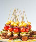 Vegetable canape Royalty Free Stock Image