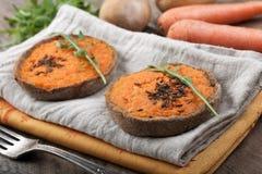 Vegetable carrot cake Stock Photos
