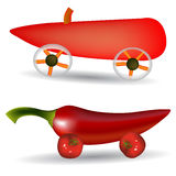Vegetable cars Stock Photography