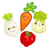 Vegetable cartoon Royalty Free Stock Photos