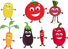 Vegetable cartoon character Royalty Free Stock Photos