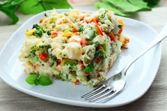Vegetable casserole Royalty Free Stock Images