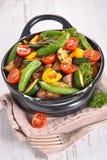 Vegetable on casserole Stock Photo