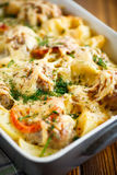 Vegetable casserole with potatoes and meatballs Royalty Free Stock Photography