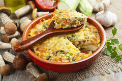 Vegetable Casserole With Mushrooms Stock Photo