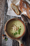 Vegetable celery cream soup Royalty Free Stock Photography