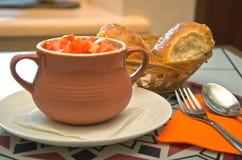 Vegetable in ceramic pot Stock Photography