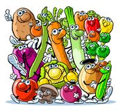 Vegetable characters Royalty Free Stock Photography