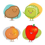 Vegetable Characters Stock Images