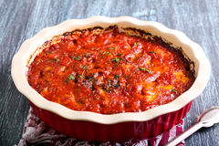 Vegetable and cheese bake Royalty Free Stock Photos