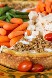 Vegetable and Cheese Plate Royalty Free Stock Photo