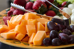 Vegetable and Cheese Plate Stock Image
