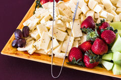 Vegetable and Cheese Plate Royalty Free Stock Photography