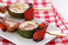 Vegetable Cheese Skewers Stock Photos