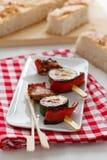 Vegetable Cheese Skewers Royalty Free Stock Photos
