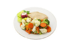 Vegetable and chicken fillet Royalty Free Stock Images