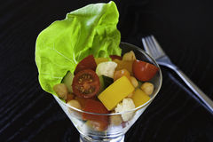 Vegetable and Chickpea Salad Royalty Free Stock Images