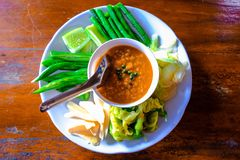 Vegetable Chili. Chili paste is made from crab eggs eaten with wild boar Stock Images