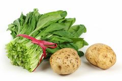 Vegetable Chinese cabbage, potatoes Stock Photo