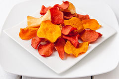 Vegetable chips Stock Photos