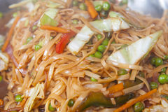 Vegetable chow mein meal at a buffet Royalty Free Stock Photo