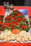 Vegetable Christmas Tree Royalty Free Stock Photos