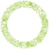 Vegetable circle. hand drawn illustrations. Stock Image