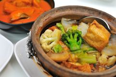 Vegetable claypot delicacy Royalty Free Stock Images
