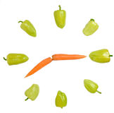 Vegetable clock Stock Image