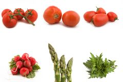 Vegetable collage. Collage of fruits and vegetables royalty free stock image