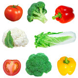 Vegetable collection. Isolated on a white background (with clipping path Stock Photography