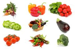 Vegetable Collection Royalty Free Stock Photography