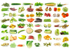 Vegetable Collection Isolated On A White Stock Images