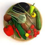 Vegetable collection on plate Stock Image